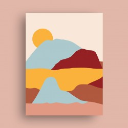 Affiche Dunes avec Soleil