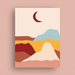 Affiche Dunes avec Lune