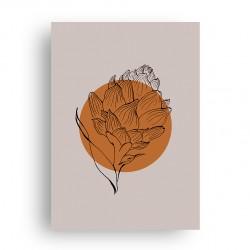 Affiche Artichaut Orange