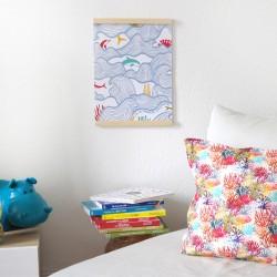 Collection Le Grand Dauphin - affiche enfant et coussin. Idée déco