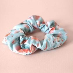 Chouchou 100% coton - motif un air champêtre