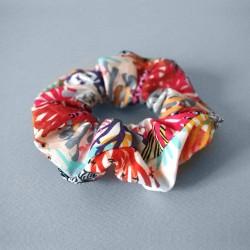 Chouchou 100% coton - motif Corail