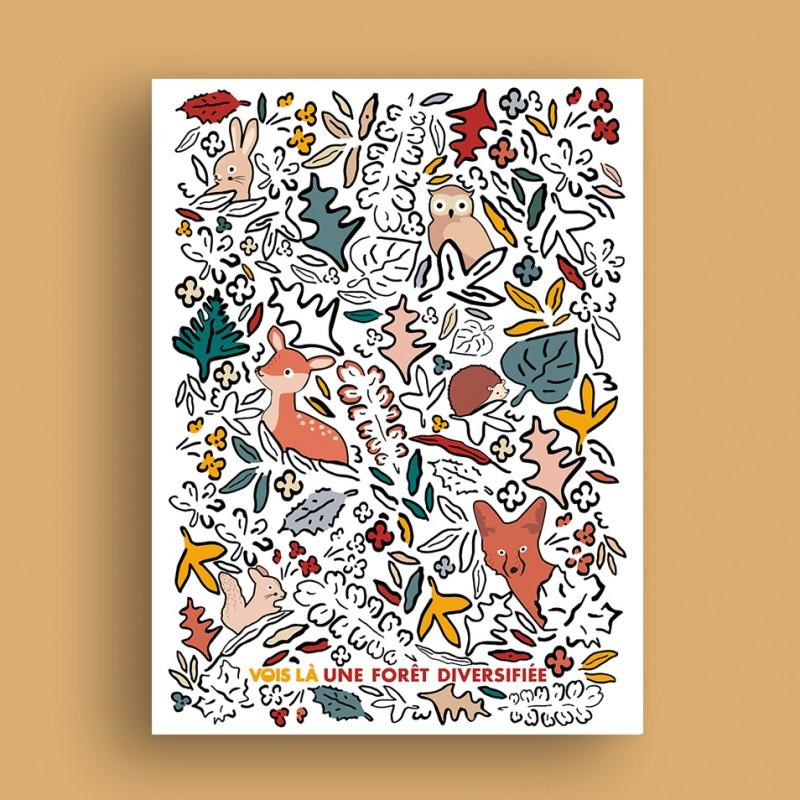 Affiche Une Forêt Diversifiée - Enfant