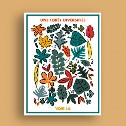 Affiche Une Forêt Diversifiée
